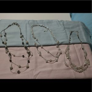 Jewelry - 3 multistrand set of necklaces